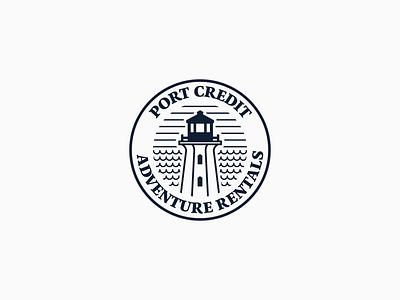Port Credit Adventure Rentals vector illustration minimal logo design logo icon graphic designer graphic design design branding
