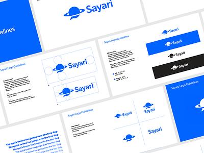 Sayari   Logo Guidelines vector illustration minimal logo design logo graphic designer graphic design guidebook guidelines design branding