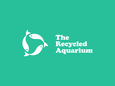 The Recycled Aquarium | Logo Design vector illustration icon minimal logo design logo graphic designer graphic design design branding