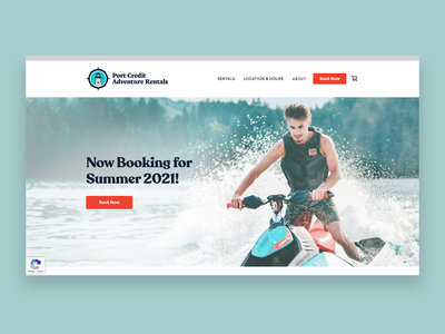 Port Credit Adventure Rentals | Website Design app logo branding graphic designer web development web designer web website graphic design ux ui web design webdesign