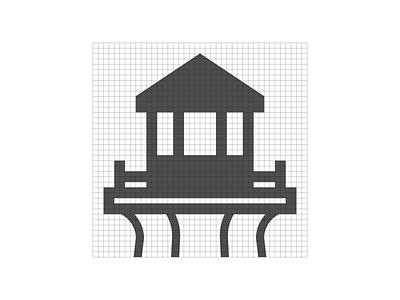 Port Credit Adventure Rentals   Logo Grid minimal logo design icon design graphic designer graphic design branding logo grid design grid logo grid layout grid
