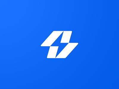 Lightning Bolt Logo app minimal logo design icon design graphic designer graphic design logo branding negative space logo negative space