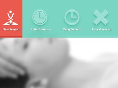 Menu menu session extend delay cancel massage