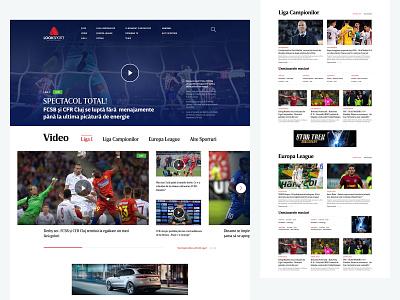 LookSport tennis soccer web homepage website sports design sports branding tv sport