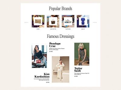 Fashion brands & stories editorial design typography homepage website magazine women fashion design fashion brand luxury fashion