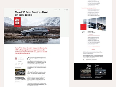 Automotive Magazine - Article Page editorial layout typography automotive website