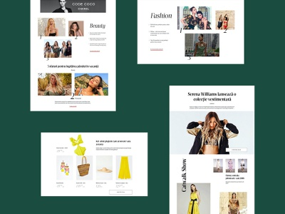 ELLE beauty website editorial layout homepage women fashion typography magazine elle