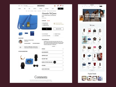 E-commerce project – coming soon women fashion luxury brand ecommence