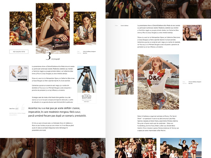 Article Fashion Magazine By Cosmin Neagu On Dribbble