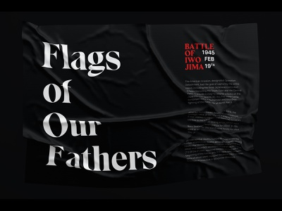 Flags of Our Fathers typography flag