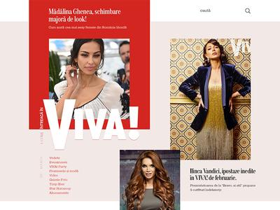 Magazine - website homepage website magazine women viva glamour fashion