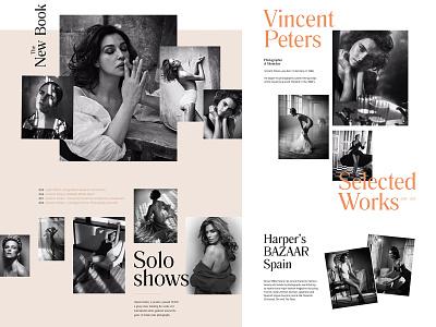 Photographer's Portfolio typography typedesign website photographer women lookbook