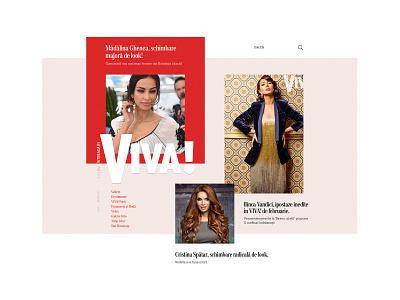 VIVA! Magazine magazine typography editorial women