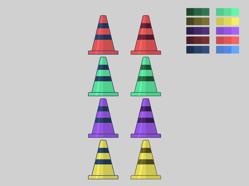 Traffic Cone Color Test cone traffic illustrator illustration