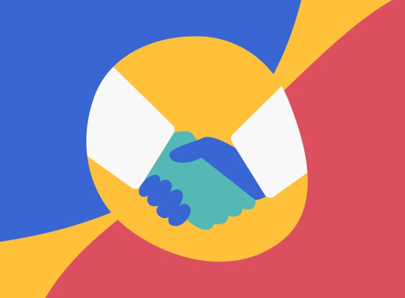 Deal! handshake deal illustration