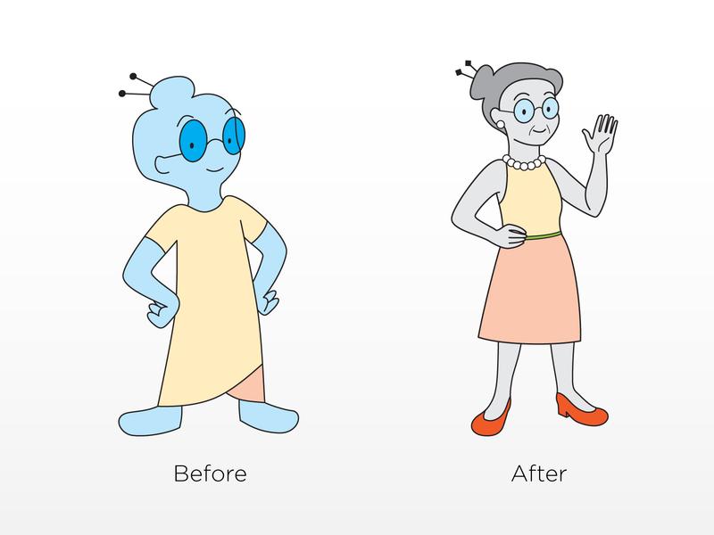 New Grandma digital representative grandma update redo redraw