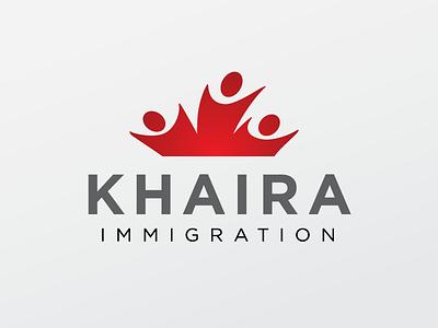 Khaira sans serif logo red movement people maple leaf