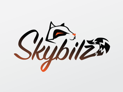 Skybilz icon logo tail orange animal streamer raccoon