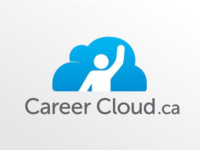Career Cloud career person logo blue cloud