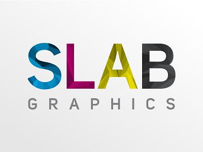 SLAB Graphics sans serif facets logo cmyk