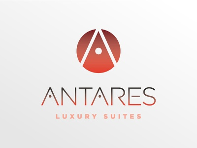 Antares dot antares minimal logo orange a