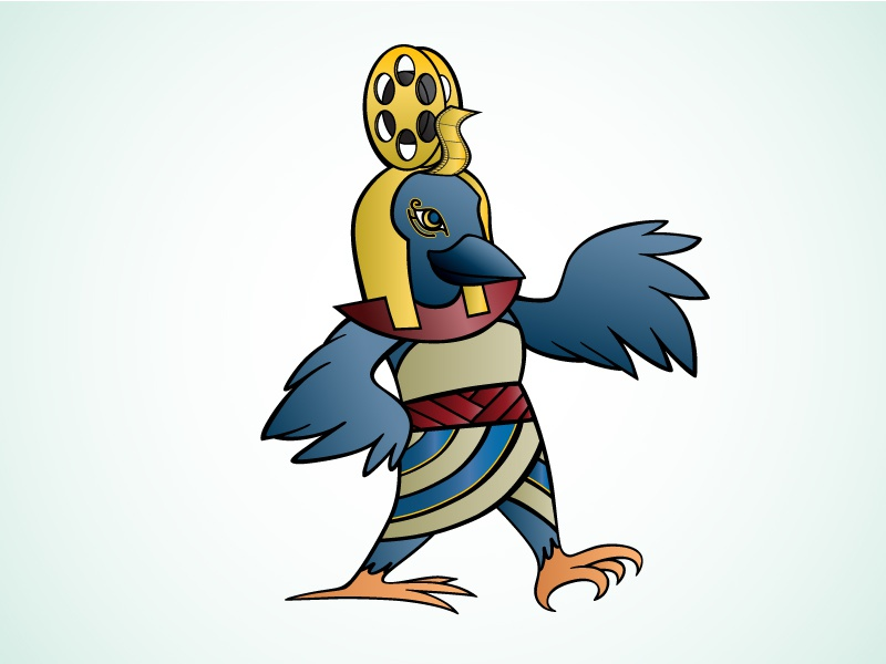 Raven Mascot animal egyptian drawing mascot raven