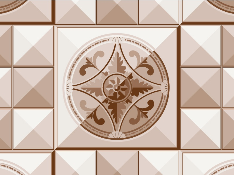 Tin Roof Tiles simplified brown ornamental square stud geometric tin roofing