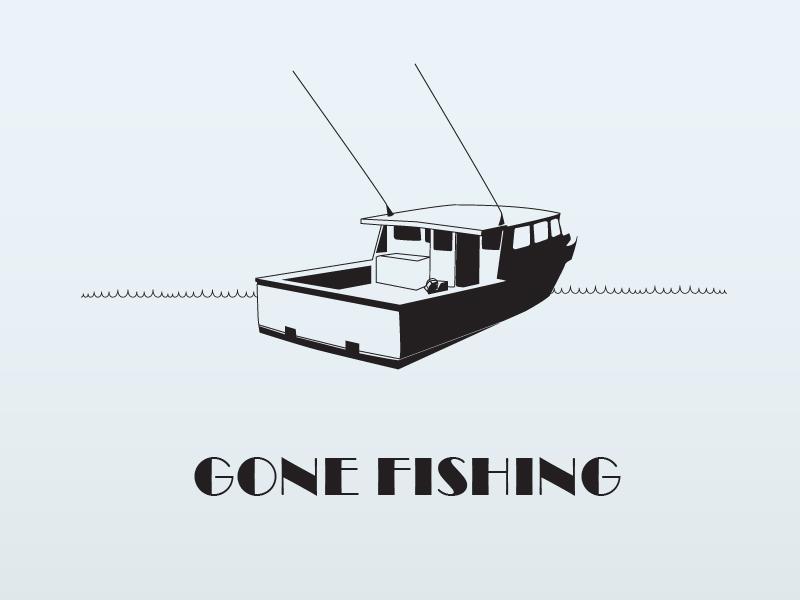 Fishing Boat gone fishing boat nautical fishing boat