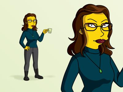 Simpsons smoonie american cartoon cartoon self portrait likeness avatar the simpsons