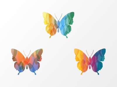 Rejected Butterflies mosaic symbol icons rejected rainbow butterflies butterfly
