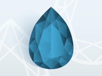 Pear Jewel diamond blue facets gemstone gem jewel pear