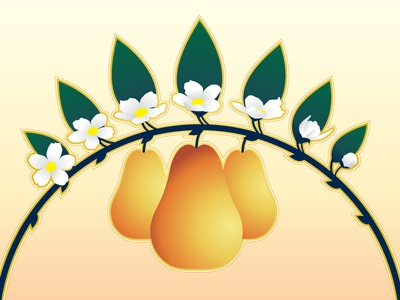Pear Arch rejected spring summer fruit branch leaf flower arch pear