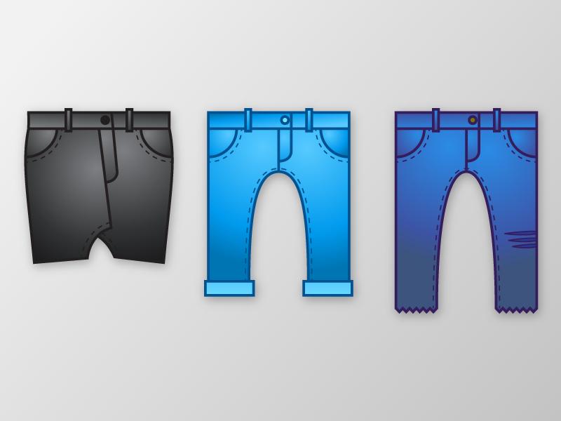 Jean Things cute minimal trousers cartoon absracted drawing clothing pants skirt black blue denim jeans