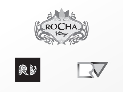 Rejected Rocha Village logos monograms logos comp design rejected designs rejected