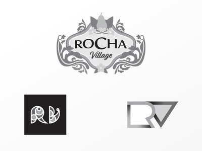 Rejected Rocha Village logos