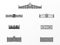 Rejected Gates logo redesign black iron fence symbol gates rejected logos rejected