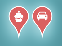 Re-Membr App Car & Cupcake Map Pins