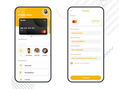 TransferMenu UI ui design mobile app design mobile minimal ui ux design app