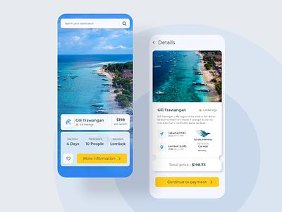 Travel App design concept minimal app ui design mobile app design mobile ux ui design