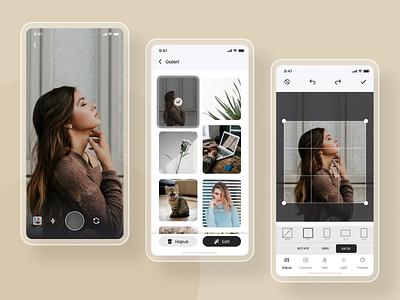 Photo Editor UI Concept userinterface ui design mobile app design typography modern app mobile photo app minimal design iphonex mobile app uidesign
