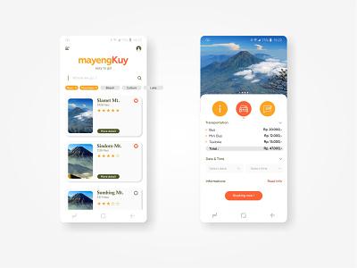 MayengKuy Travel App ui design design modern mobile mobile app design ux ui app