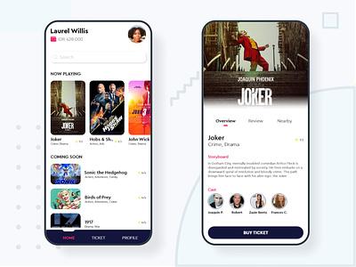 Movie App UI design branding minimal modern ui design mobile app design mobile ux ui design app