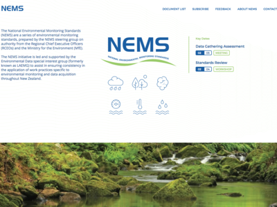 National Environmental Monitoring Standards — Web web ux ui