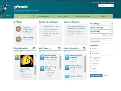GWennie Staff Intranet — Web staff intranet web ux ui