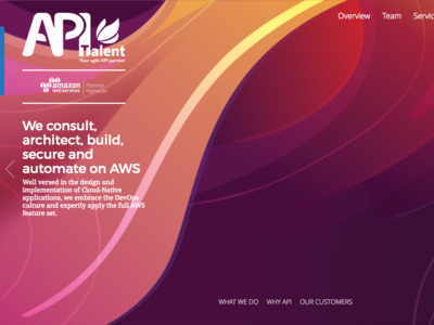 API Talent — Web web ux ui aws amazon