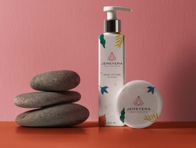 Jemeyema cosmetics packaging design