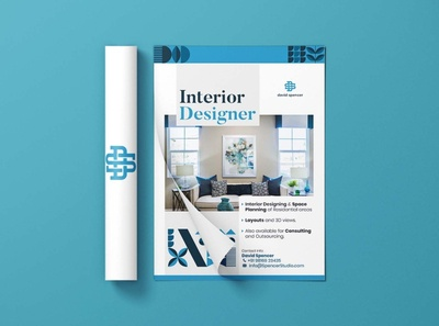 David spencer interior design (Flyer design)