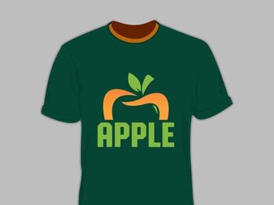 Apple T shirt design flat typography t shirt design design vector branding creative  design graphic design teespring tshirtdesign tee t-shirt t shirt