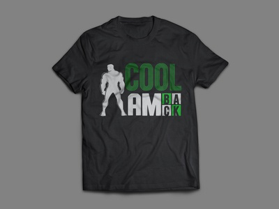 Cool I am back T shirt design flat typography t shirt design vector design branding creative  design graphic design teespring tshirtdesign tee t-shirt t shirt