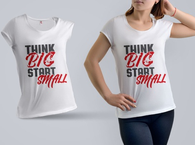 Think big start small t shirt design